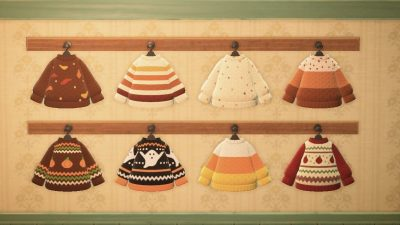 ACNH QR Codes Bidoof Crossing – acnhcustomdesigns: autumn sweaters