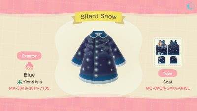 ACNH QR Codes happyhappydesigns:Silent Snow – Winter CoatInspired by a wall…
