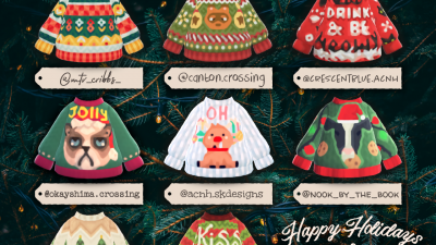 ACNH QR Codes happyhappydesigns:Fleece Navidad – An Ugly Christmas Sweater…