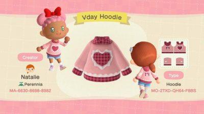 ACNH QR Codes qr-closet:valentine's day hoodie 💗