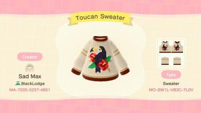 ACNH QR Codes qr-closet:toucan sweater ✨