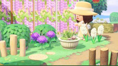 ACNH QR Codes qr-closet:  wisteria, hydrangea, & hibiscus flower panels ✨