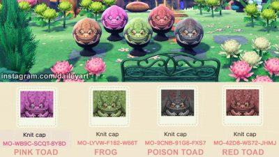 ACNH QR Codes qr-closet:toads! 🐸
