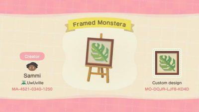 ACNH QR Codes qr-closet:framed plant illustrations 🌿