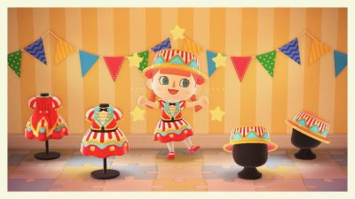 ACNH QR Codes qr-closet:circus outfit from pocket camp ✨