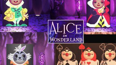 ACNH QR Codes qr-closet:alice in wonderland standees ✨