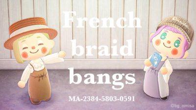 ACNH QR Codes qr-closet:french braid bangs ✨