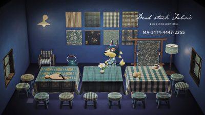 ACNH QR Codes qr-closet:blue fabric collection ✨