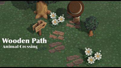 ACNH QR Codes qr-closet:  wood plank path ✨
