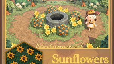 ACNH QR Codes qr-closet:sunflower bush ✨