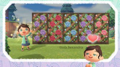 ACNH QR Codes qr-closet:rose lattice ✨