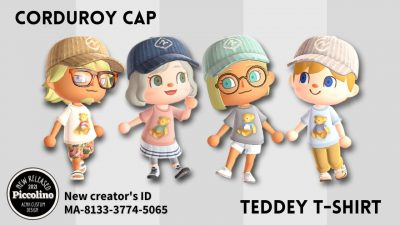 ACNH QR Codes qr-closet:corduroy hat & teddy shirt ✨