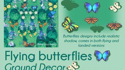 ACNH QR Codes qr-closet:  flying butterflies ✨