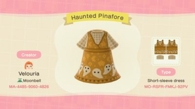 ACNH QR Codes moonbell-cottage:Ghost dress + sweater 👻