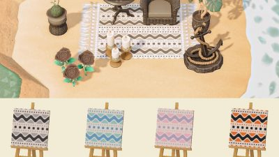 Animal Crossing: A few new color combos of my chevron rug!