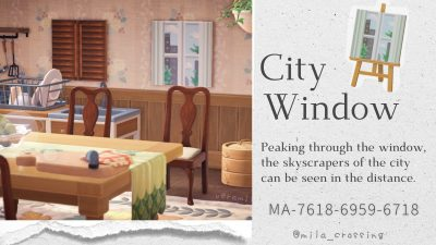 Animal Crossing: City window