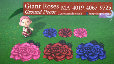 Animal Crossing: Giant Roses 🌹 Available as a single tile or 4-piece, and in three different colors!