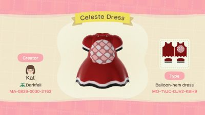 Animal Crossing: I made a little Celeste dress!