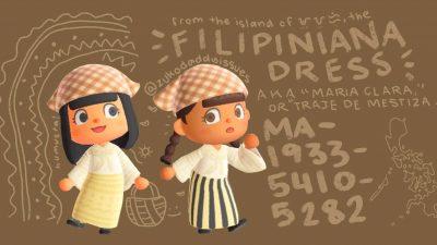 Animal Crossing: I made filipiniana dresses in animal crossing! (MA-1933-5410-5282)