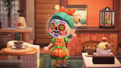Animal Crossing: I revisited my pumpkin dresses to detail the colors better and added a lace panel at the back. Also made versions with different faces (default, classic, and creeper!)