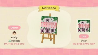 Animal Crossing: I've been struggling with a flag design for my island, Mariposa, but after just going for it and not thinking about too much, I actually love the outcome!🥺❤️ So i just wanted to share cuz I'm proud haha.
