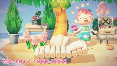 Animal Crossing: Lily dress with waterlilies on it