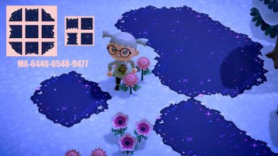 Animal Crossing: Made a galaxy path!