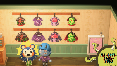 Animal Crossing: Made a whole line to match my town themes! Enjoy my spooky shirts!