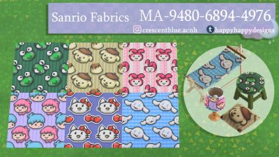 Animal Crossing: My collection of repeating Sanrio tiles, made to match the latest furniture sets!