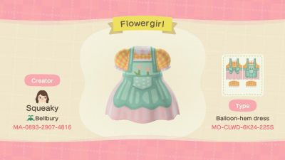 Animal Crossing: My first (finished) dress design!