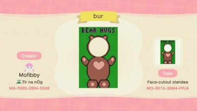 Animal Crossing: My first foray into the new pro design options – a bear hugs stand!