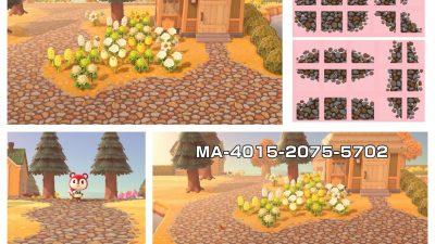 Animal Crossing: My version of the cobblestone path!