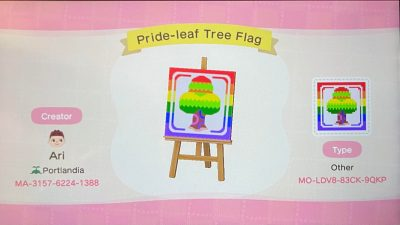 Animal Crossing: Someone asked, so here's a pride flag for ACNH