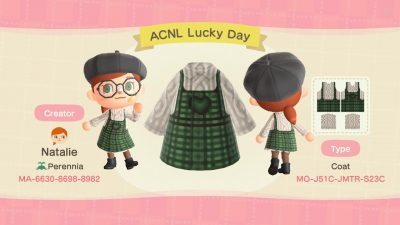 Animal Crossing: ☘️Top'o the evenin' to ya! Please enjoy these St. Patty's day overalls and may your March be luckier than last year's… MA-6630-8698-898🍀