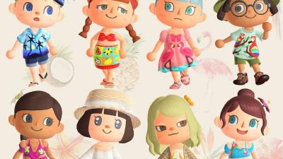 Animal Crossing: 🌴Tropical Resort🌺 Some of my Cloth Collection for Tropical Island theme and Summer time. 🍍🌦💕🥰