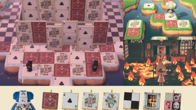 Animal Crossing: Updated Alice: Madness Returns patterns (grid in comments)