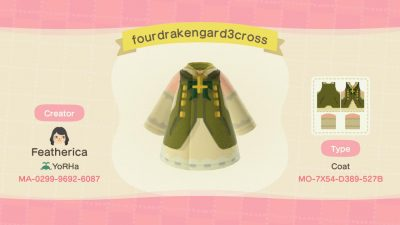 Animal Crossing: (VERSION WITH THE CROSS) For anyone who knows and likes Drakengard 3 here's my version of Four's outfit. 🖤
