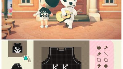 Animal Crossing: Wanted K.K. Slider merch to hang in my store (pixel grid included, code in comments)
