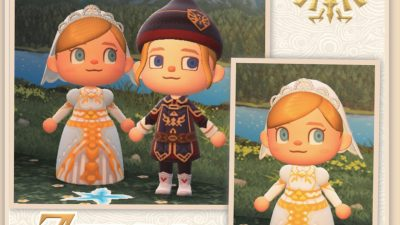 Animal Crossing: Zelda's Royal Wedding Gown~ if you ship her and Link….